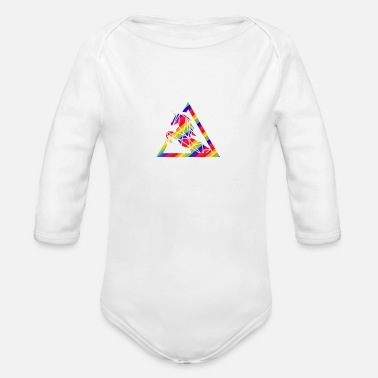 Rainbow Galaxy Unicorn Rainbow Unicorn - Organic Long-Sleeved Baby Bodysuit