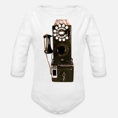 Pay pay phone - Organic Long Sleeve Baby Bodysuit