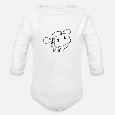 Cow Cow Cows Dairy Cow Farming Farmer Gift - Organic Long-Sleeved Baby Bodysuit
