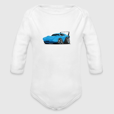 Classic American Winged Muscle Car Hot Rod - Organic Long Sleeve Baby Bodysuit