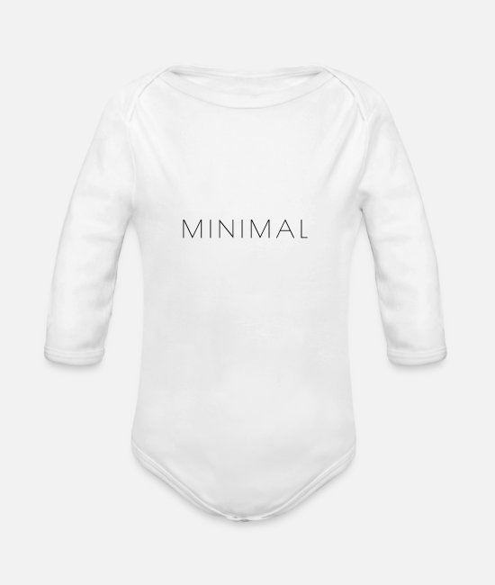 Alphabet Baby One Pieces - MINIMAL - Organic Long-Sleeved Baby Bodysuit white