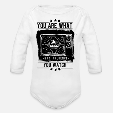 You Are What You Watch - Bad Influence - Organic Long-Sleeved Baby Bodysuit