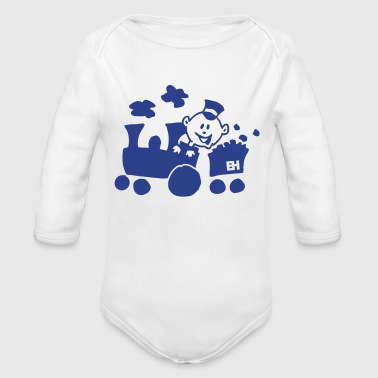 Train Train - Organic Long Sleeve Baby Bodysuit