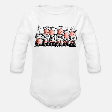 Cow Funny Cows - Cow - Organic Long Sleeve Baby Bodysuit
