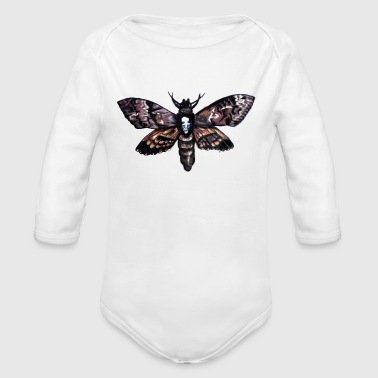 deaths head hawk moth - Long Sleeve Baby Bodysuit