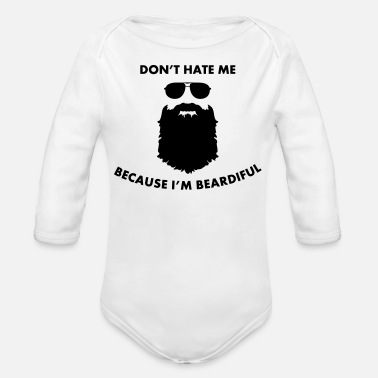 Beard Beard - Organic Long-Sleeved Baby Bodysuit
