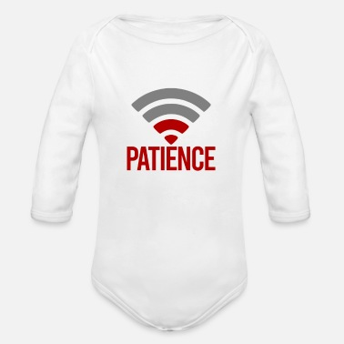 Patience Patience - Organic Long-Sleeved Baby Bodysuit