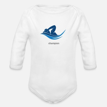 Swimming - Organic Long-Sleeved Baby Bodysuit