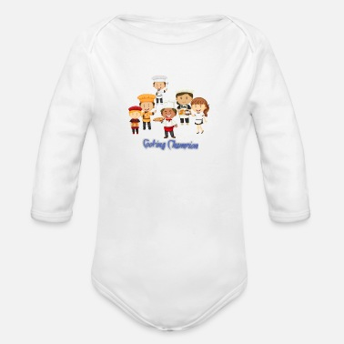 Food Food Food - Organic Long-Sleeved Baby Bodysuit