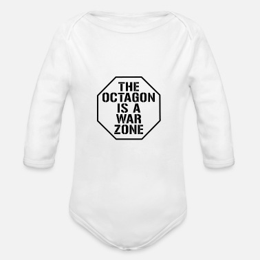 Octagon The octagon is a war Zone - Organic Long-Sleeved Baby Bodysuit