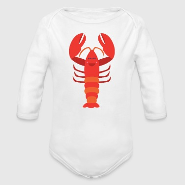 Funny Lobster Sea Creature - Organic Long Sleeve Baby Bodysuit