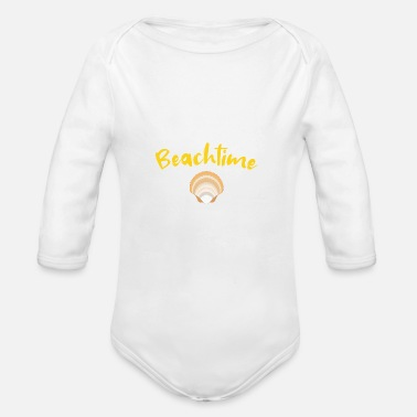 Mussels Beachtime mussel - Organic Long-Sleeved Baby Bodysuit