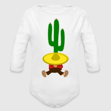 Mexican Cactus - Organic Long Sleeve Baby Bodysuit