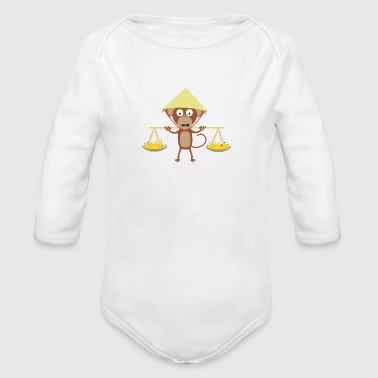 Vietnamese monkey - Organic Long Sleeve Baby Bodysuit
