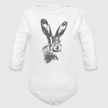 Hare - Organic Long Sleeve Baby Bodysuit
