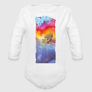 Mr. Baywatch - Organic Long Sleeve Baby Bodysuit