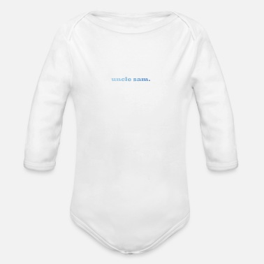 Sam uncle sam. - Organic Long Sleeve Baby Bodysuit