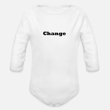 Change Change - Organic Long Sleeve Baby Bodysuit
