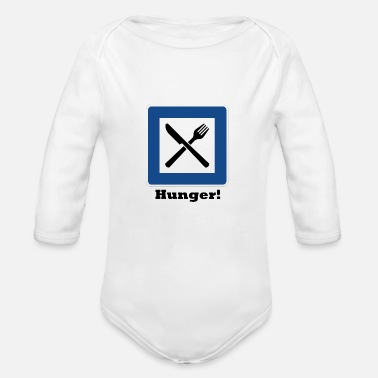 Hunger Hunger! - Organic Long-Sleeved Baby Bodysuit