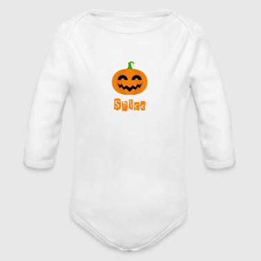 Pumpkin Spice. Holiday Spice - Organic Long Sleeve Baby Bodysuit