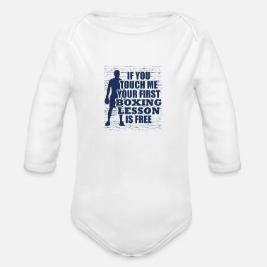 Box Boxing Boxing Boxing Boxing - Organic Long-Sleeved Baby Bodysuit