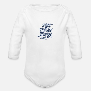 Warming Global Warming Global Warming Global Warming - Organic Long-Sleeved Baby Bodysuit