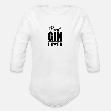 Gin Bar Pub Gin Lover Gin Gins Drinking - Organic Long-Sleeved Baby Bodysuit