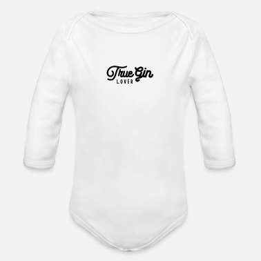 Gin Gin Lover Bar Pub Gin Drinking Gins - Organic Long-Sleeved Baby Bodysuit