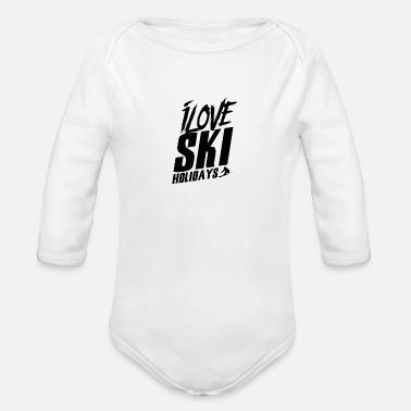 Ski Holidays Ski Holiday - Organic Long-Sleeved Baby Bodysuit