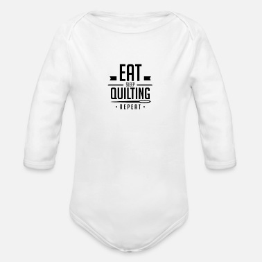 Quilting Quilts Quilting Quilt Quilter - Organic Long-Sleeved Baby Bodysuit