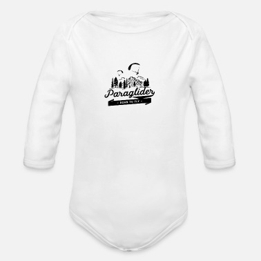 Plus Paraglider Born To Fly - Organic Long-Sleeved Baby Bodysuit