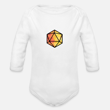 Hits Light Diamonds Dice D&D - Organic Long-Sleeved Baby Bodysuit