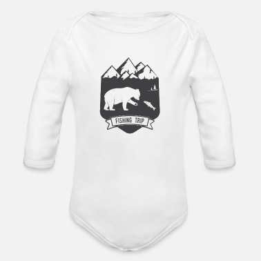 Clilmber fishing trip 1 - Organic Long-Sleeved Baby Bodysuit
