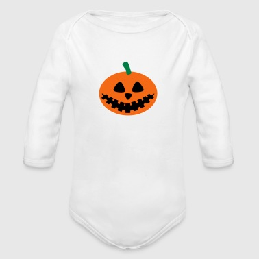 pumpkin - Organic Long Sleeve Baby Bodysuit