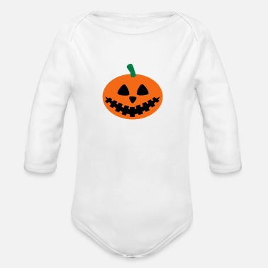 Sumu Lee pumpkin - Organic Long Sleeve Baby Bodysuit