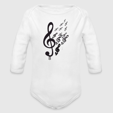 Notes - Organic Long Sleeve Baby Bodysuit