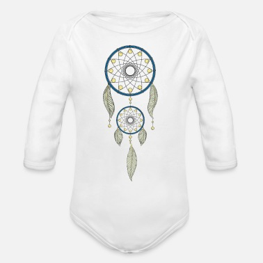 Dream Catcher dream catcher - Organic Long Sleeve Baby Bodysuit
