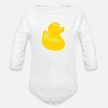 Duck Rubber duck - Organic Long Sleeve Baby Bodysuit