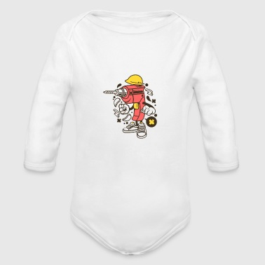 Drill Drill - Organic Long Sleeve Baby Bodysuit