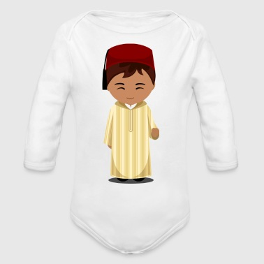 Tradition Moroccan traditional clothing - Organic Long Sleeve Baby Bodysuit