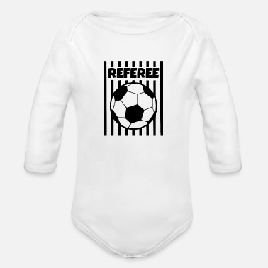 Referee referee - Organic Long Sleeve Baby Bodysuit
