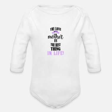 Motherly Love Motherly Love - Cute Saying for Mother's Day - Organic Long-Sleeved Baby Bodysuit