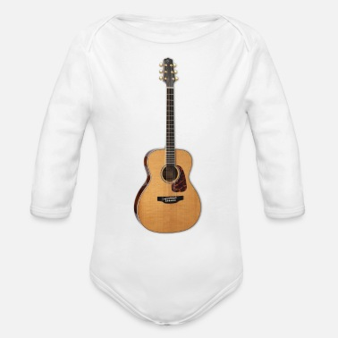 hiclipart guitar - Organic Long-Sleeved Baby Bodysuit