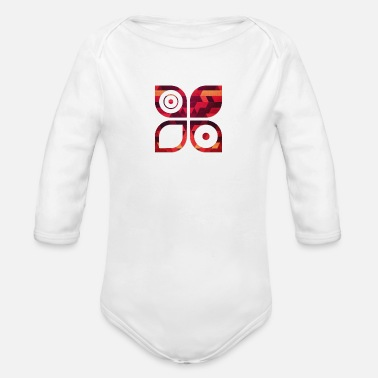 Minimalism Abstract Minimal Geometrie Hipster Kunst (Rot Gold - Organic Long-Sleeved Baby Bodysuit