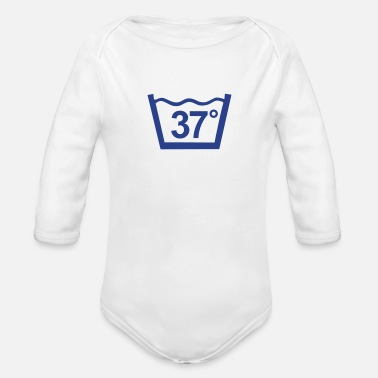 Wash at 37 degree  - Organic Long-Sleeved Baby Bodysuit