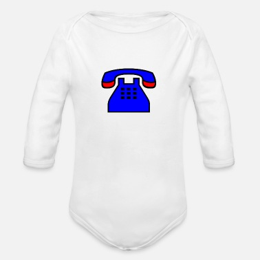 Phone phone - Organic Long Sleeve Baby Bodysuit