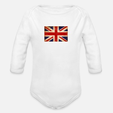 Union Jack Union Jack - Organic Long-Sleeved Baby Bodysuit