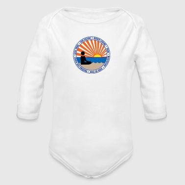Pausing For Peace - Organic Long Sleeve Baby Bodysuit