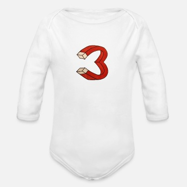 Attractive Heart-Attract - Organic Long Sleeve Baby Bodysuit