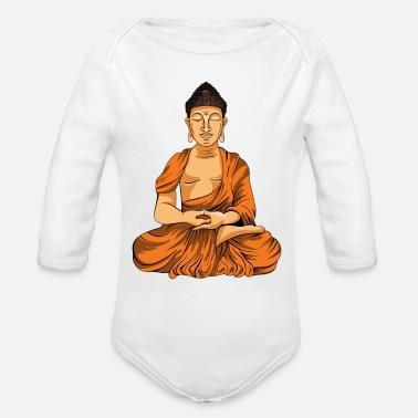 97020a59 Lord Buddha - Organic Long-Sleeved Baby Bodysuit